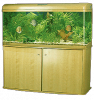 4 feet wooden cabinet aquarium complete set